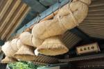 結婚式場『神楽殿』、日本一のしめ縄が有名です。